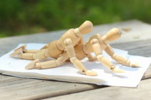 couple, Kamasutra, Wood, Miniatures, Figurines, Depth of field, Wooden surface, Wood planks, Screws