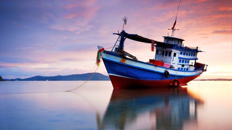 sea, Boat, Vehicle HD Wallpaper Desktop Background