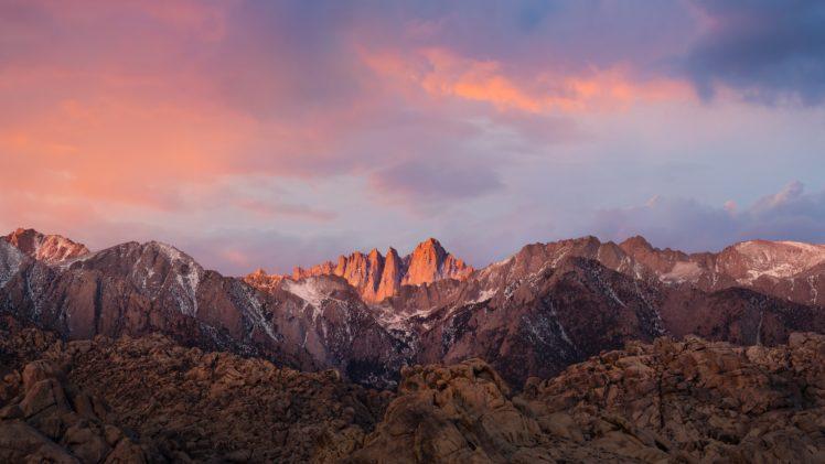 Mountains Nature Mount Whitney California Sierra Nevada