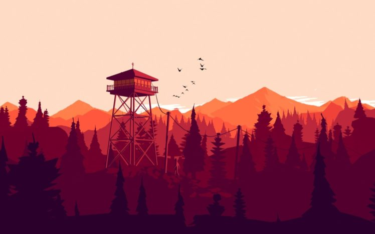 illustration, Firewatch, Video games HD Wallpaper Desktop Background
