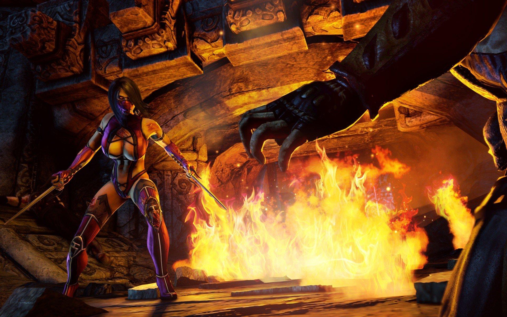 video games, Mortal Kombat, Mileena Wallpaper