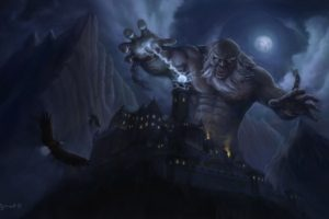 fantasy art, Artwork, Giant