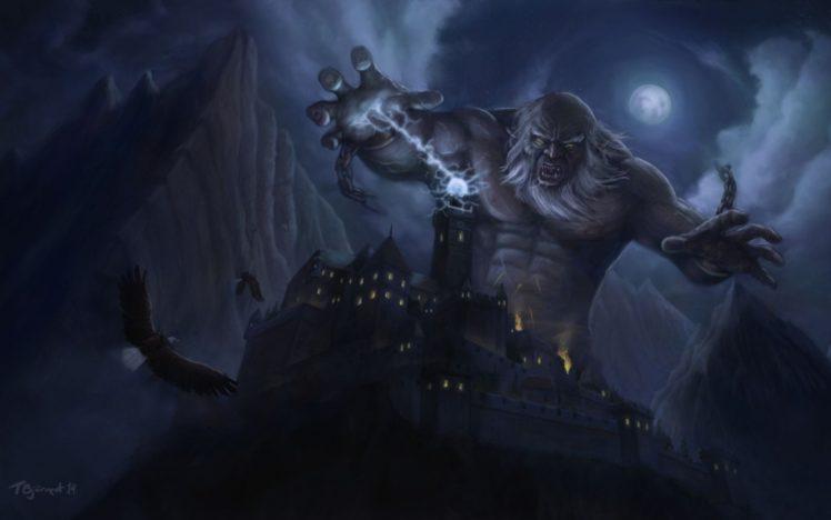 fantasy art, Artwork, Giant HD Wallpaper Desktop Background