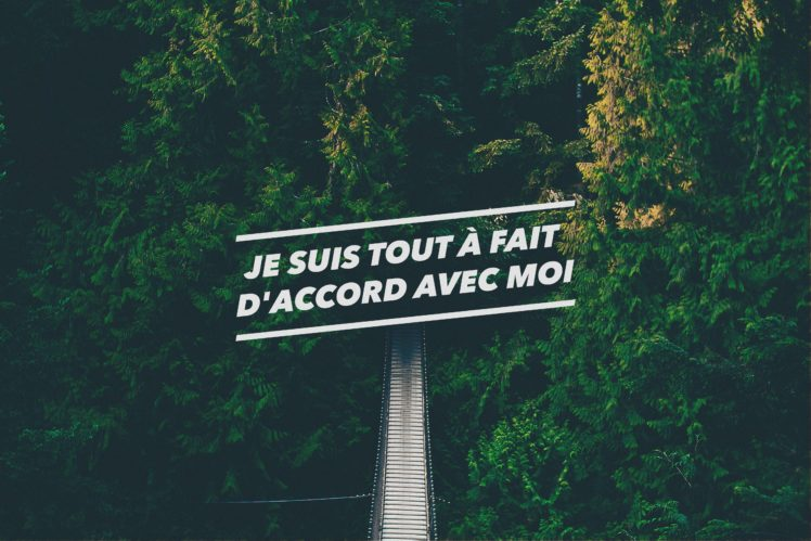 French Forest Green Quote Confidence Bridge Landscape HD Wallpaper Desktop