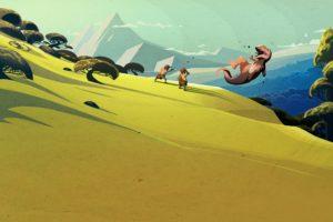 Steam (software), Dinosaurs, Landscape, Minimalism
