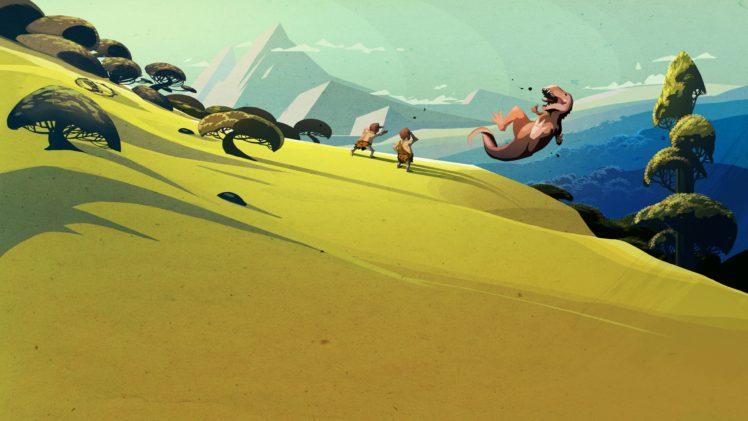 Steam (software), Dinosaurs, Landscape, Minimalism HD Wallpaper Desktop Background