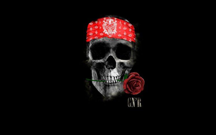 Skull Rose Minimalism Guns N039 Roses Gnr Headband Hd