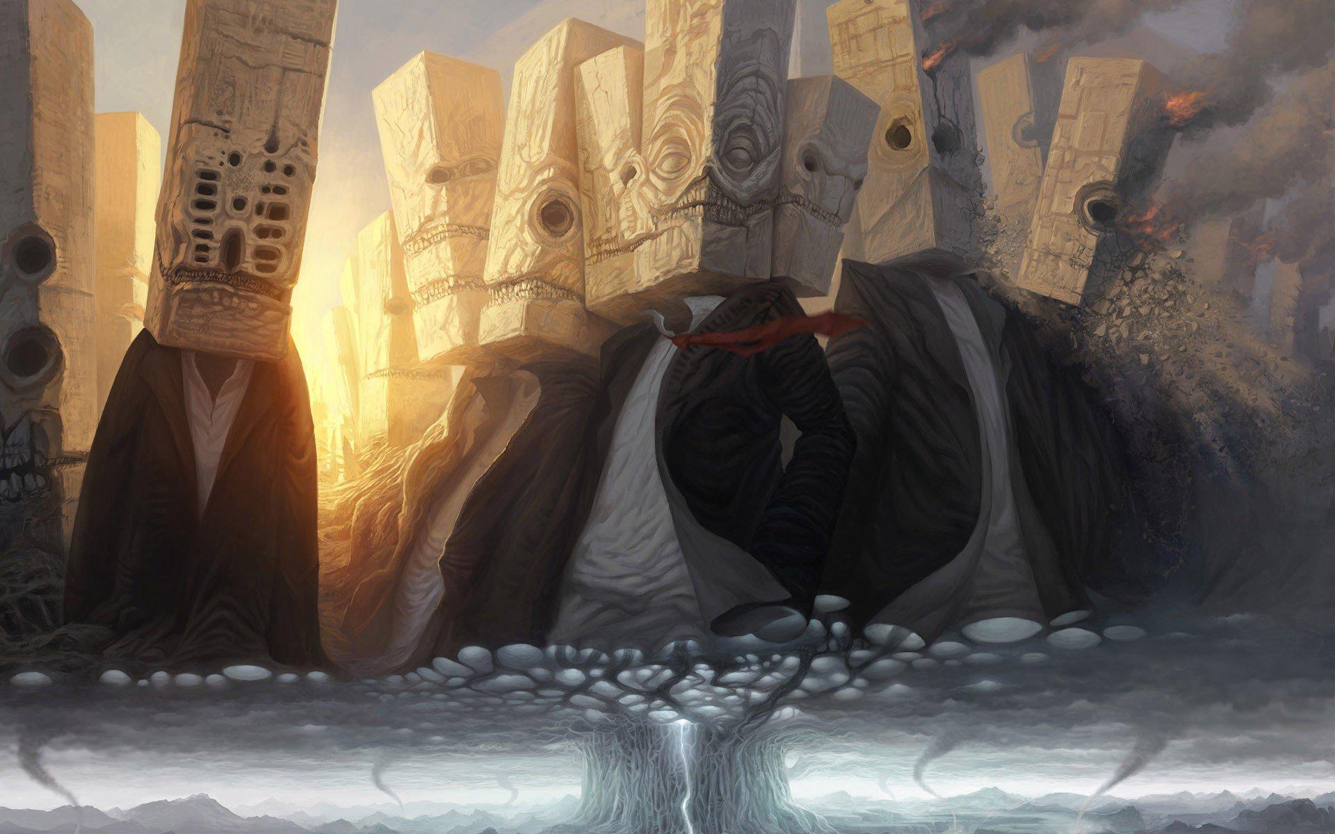 fantasy art, Tornado Wallpaper