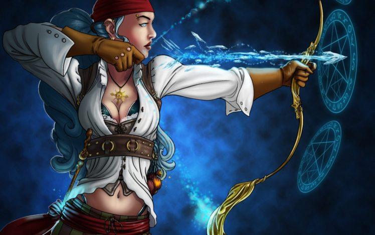 pirates, Women, Artwork, Fantasy art, Fantasy girl HD Wallpaper Desktop Background