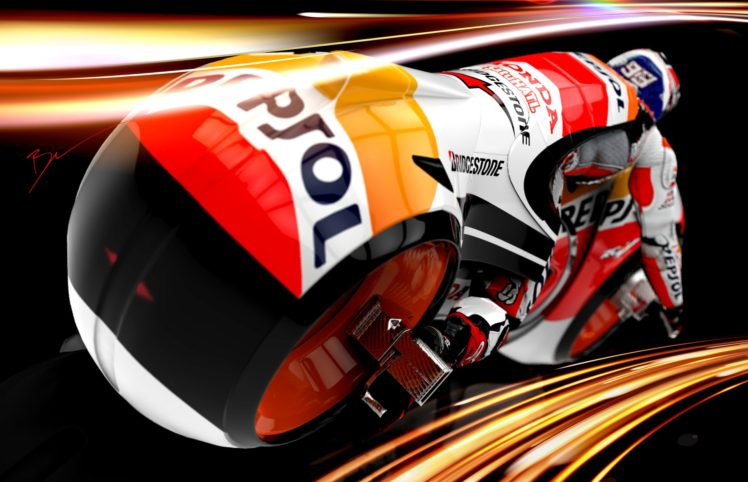Marc Marquez, Moto GP, Tron, Motorcycle HD Wallpapers