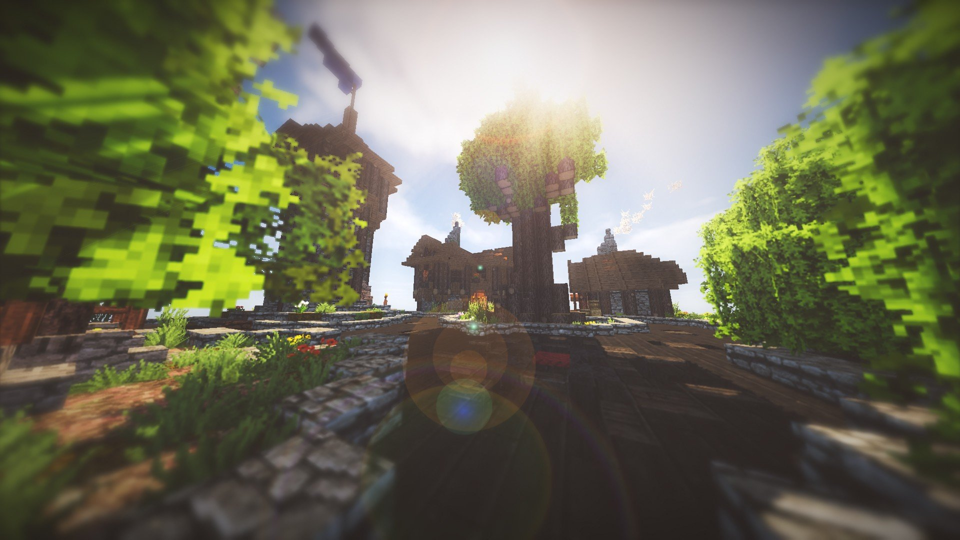 Minecraft, Shaders Wallpaper