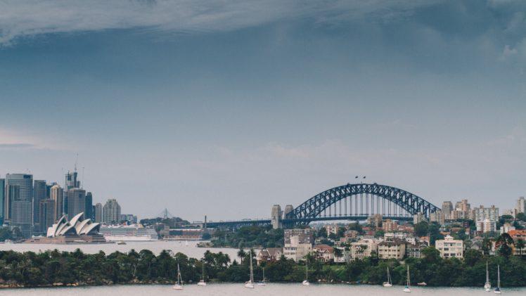 City Bridge Water Sydney Opera House Sydney Sydney Harbour