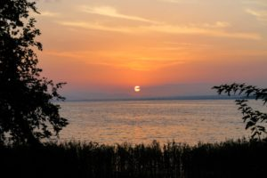 nature, Water, Sunset