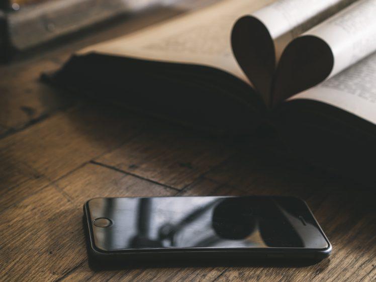 iPhone, Books, Wood HD Wallpaper Desktop Background