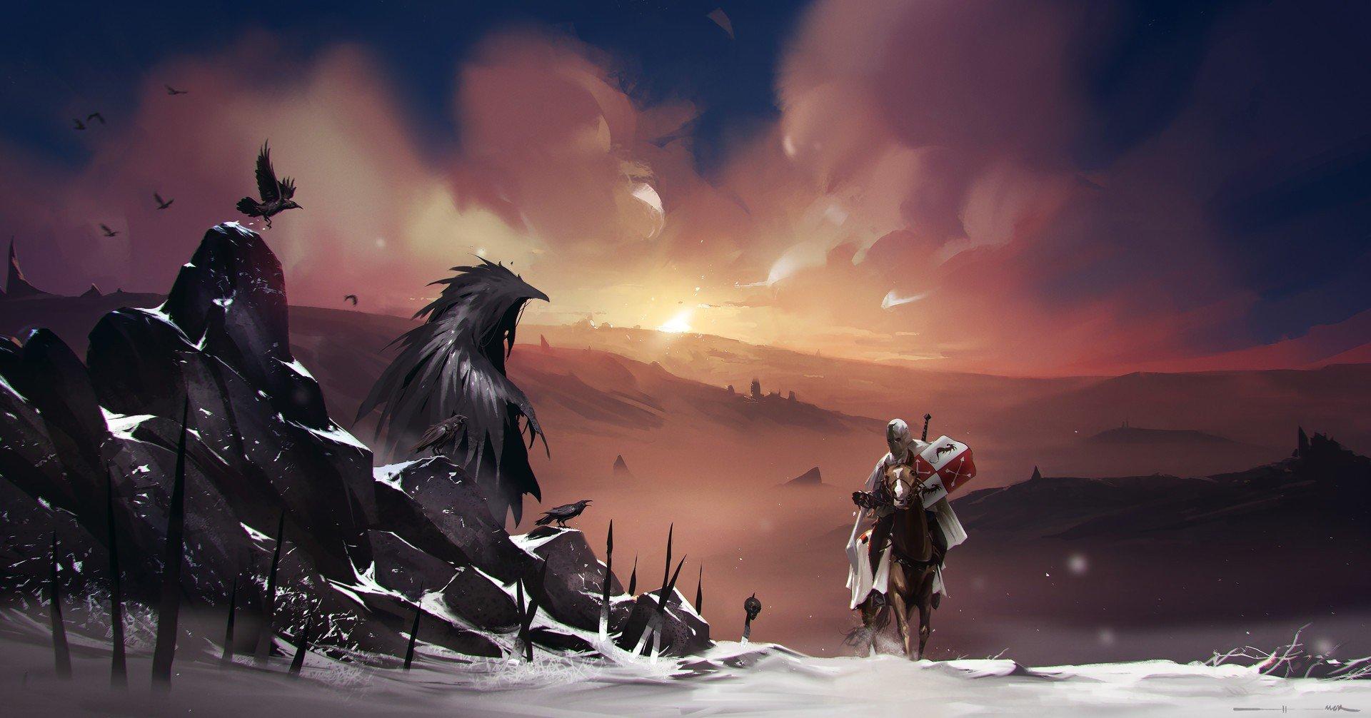 fantasy art, Crow Wallpaper