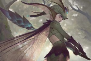 warrior, Fairies, Fantasy art