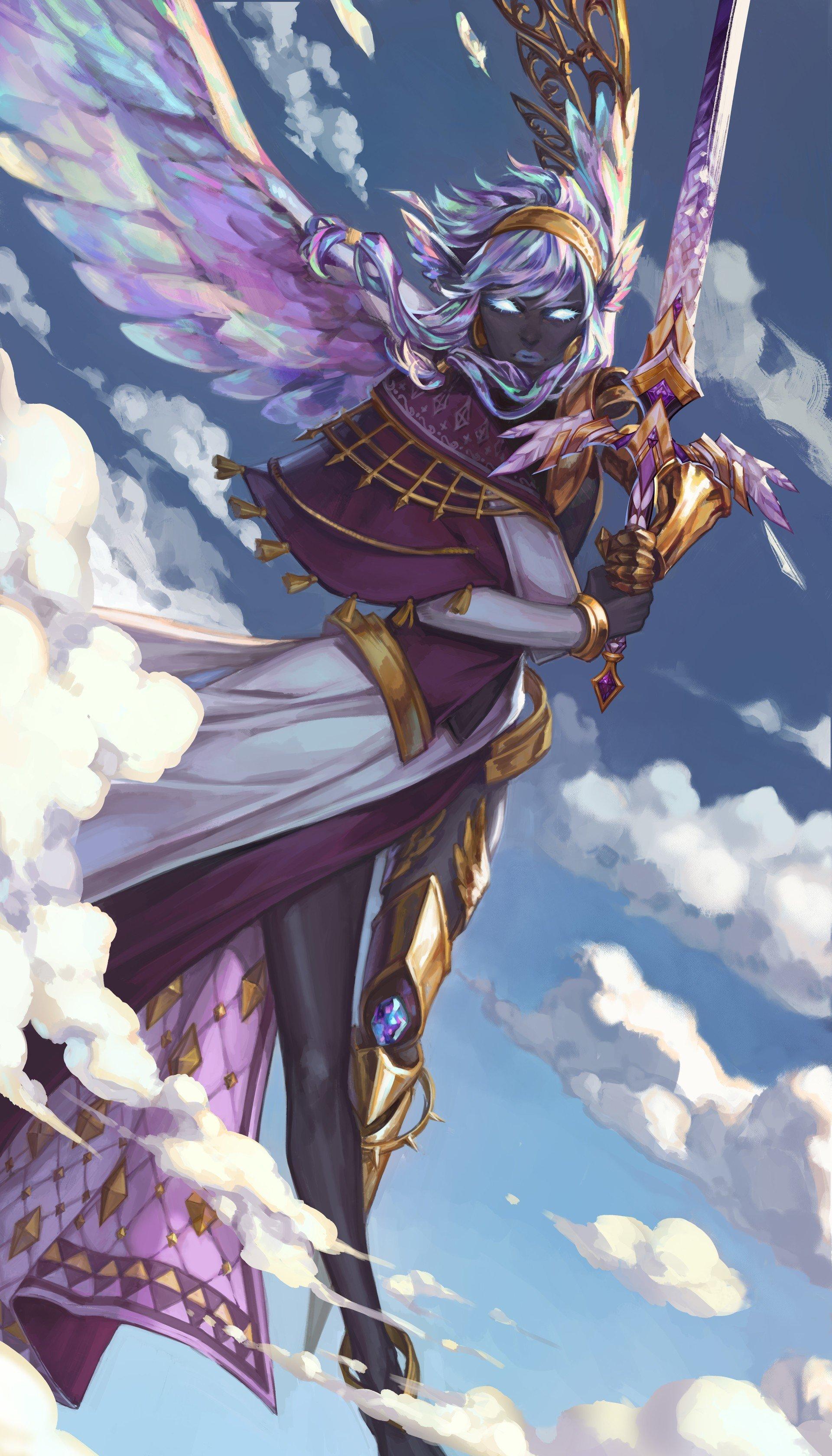 warrior, Fantasy art, Angel HD Wallpapers / Desktop and ...