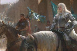warrior, Horse, Fantasy art, Berserk
