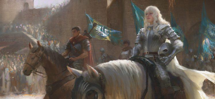 warrior, Horse, Fantasy art, Berserk HD Wallpaper Desktop Background