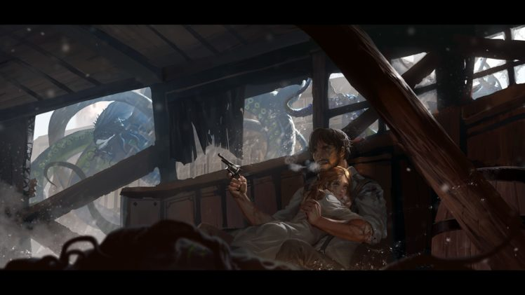 fantasy art, Gun HD Wallpaper Desktop Background