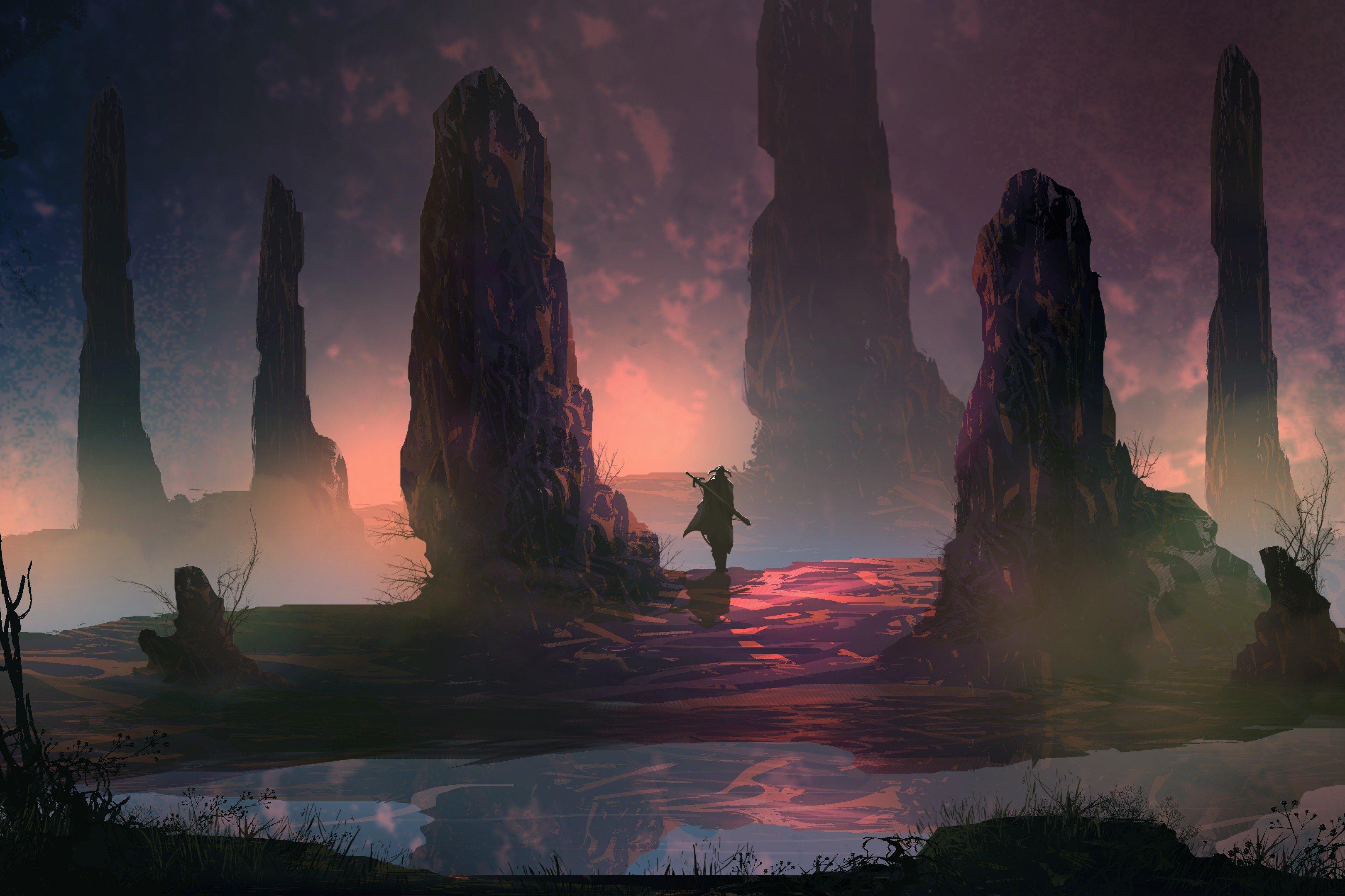 warrior, Fantasy art Wallpaper