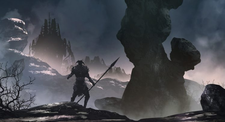 warrior, Fantasy art HD Wallpaper Desktop Background