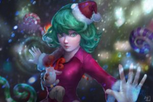 magic, One Punch Man, Christmas, Tatsumaki