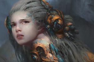 face, Magic, Fantasy art, Fantasy girl