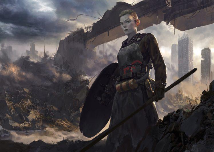 fantasy art, Futuristic HD Wallpaper Desktop Background