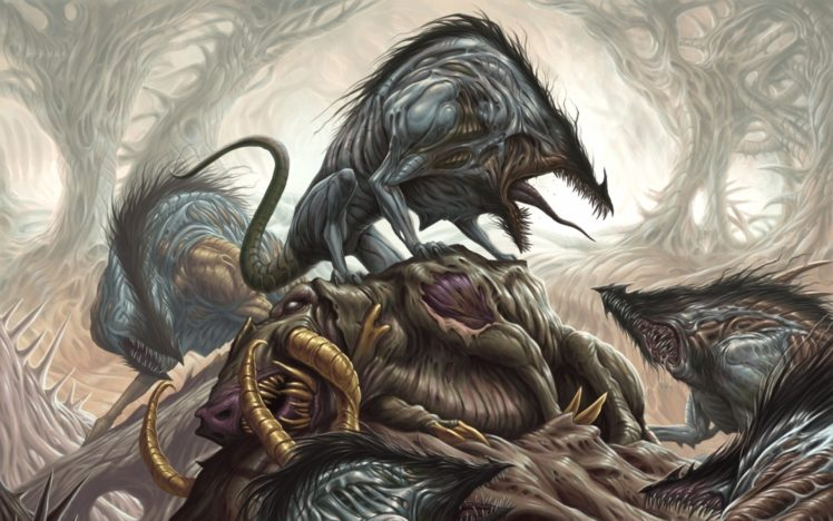 death, Creature, Fantasy art HD Wallpaper Desktop Background
