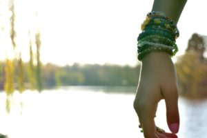 women, Hands, Lake, Bangles, Bracelets, Depth of field