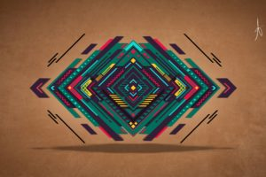 abstract, Digital art, Vector, Triangle, Colorful, Graphic design, Geometry