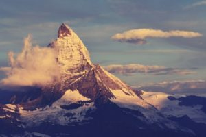 mountains, Nature, Clouds, Sunlight, Matterhorn