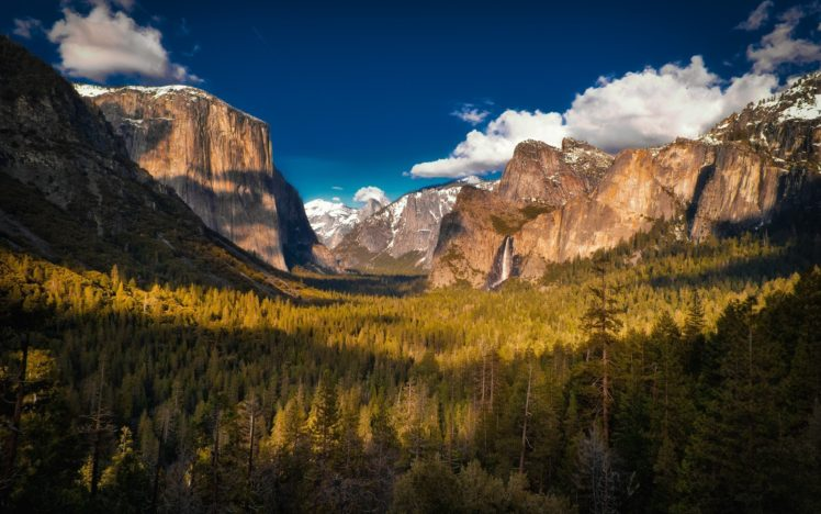 forest, Mountains, Nature, Clouds, Yosemite National Park HD Wallpaper Desktop Background