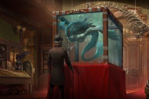 men, Artwork, Museum, Aquarium, Hat, Fantasy art