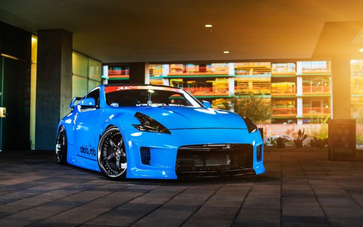 Nissan Nissan 370z Car Vehicle Blue Cars Hd Wallpapers