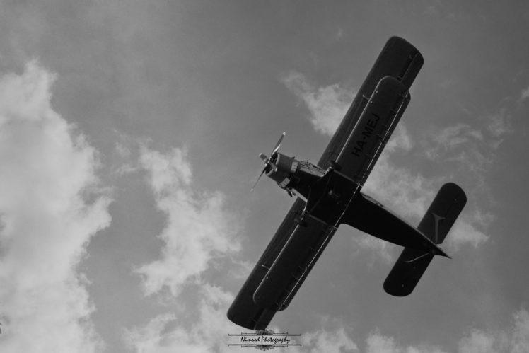 nature, Airplane, Monochrome HD Wallpaper Desktop Background
