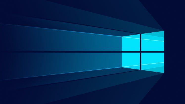 Windows 10, Minimalism, Logo HD Wallpaper Desktop Background