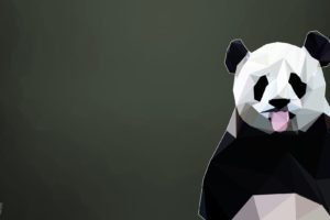 panda, Poly, Animals, Low poly