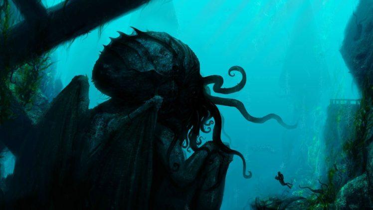 divers, Cthulhu, Fantasy art, Creature HD Wallpaper Desktop Background
