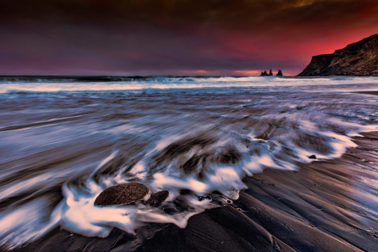 landscape, Sea, Long exposure, Beach HD Wallpaper Desktop Background