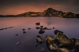 landscape, Rocks, Lake, Nature