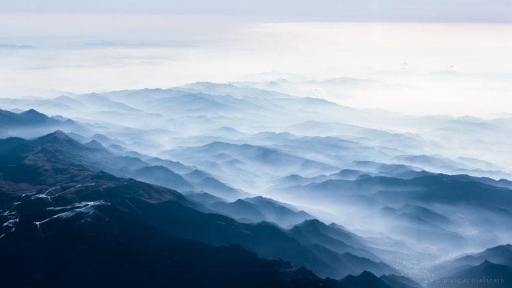 mountains, Mist, Nature HD Wallpaper Desktop Background