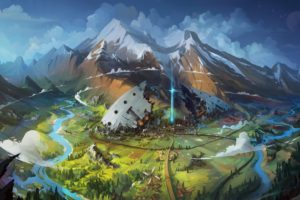 illustration, Fantasy art, Mountains, Artwork, Snow