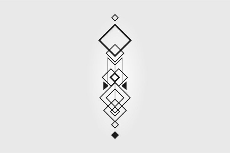 Vector Abstract Minimalism Geometry Tattoo Hd Wallpapers