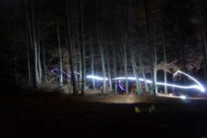 long exposure, Quadcopter, Forest, Fall
