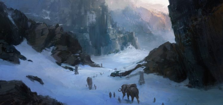 painting, Landscape, Guild Wars 2 HD Wallpaper Desktop Background