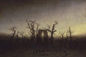 painting, Landscape, Gothic, Caspar David Friedrich