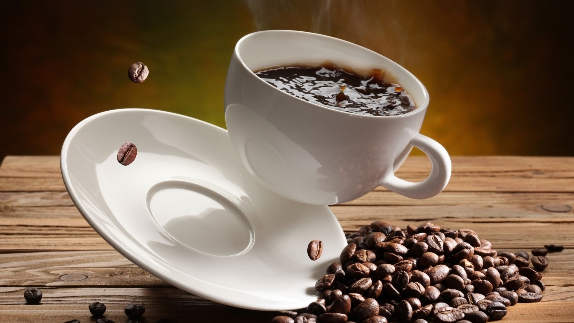 coffee, Cup, Coffee beans Wallpaper