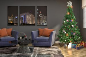 Christmas Tree, Christmas, Interior